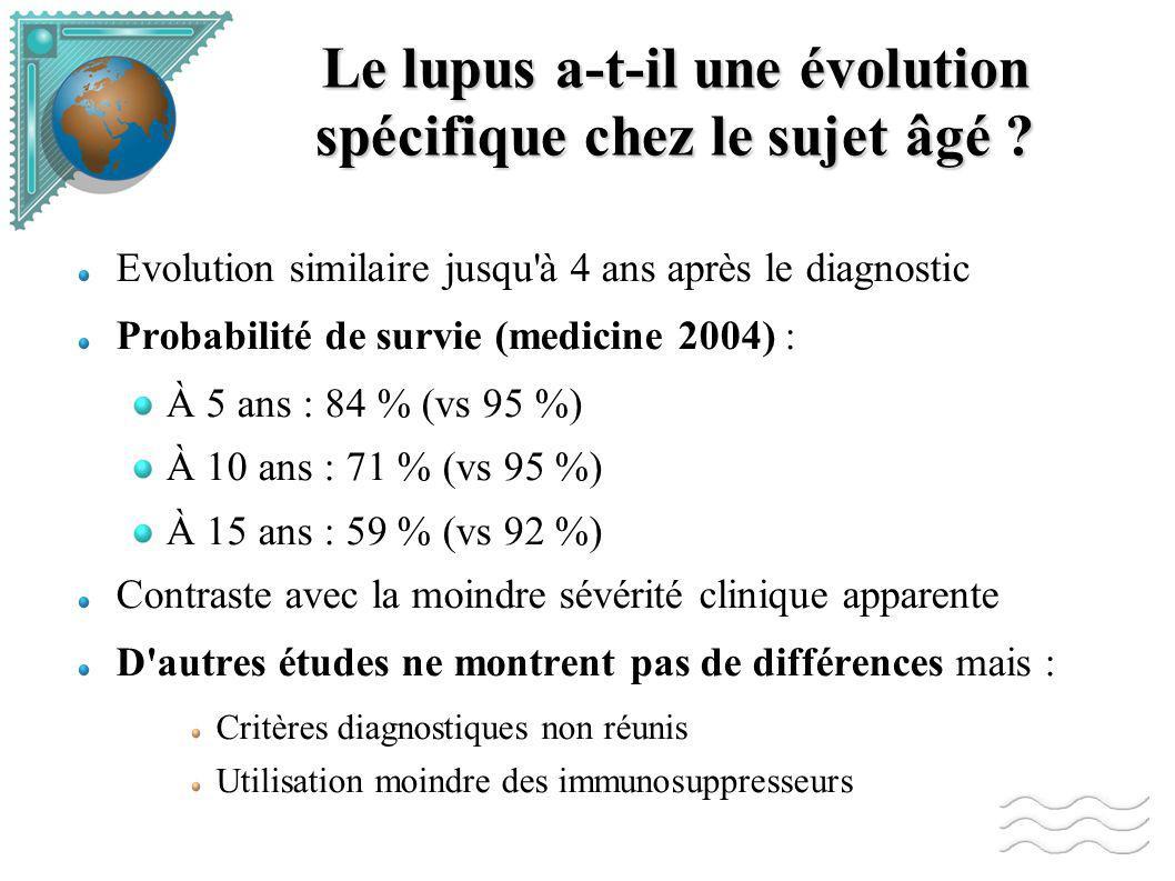 Le lupus a-t-il une évolution spécifique chez le sujet âgé