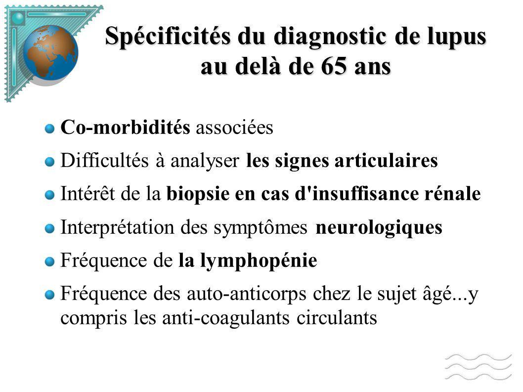 Spécificités du diagnostic de lupus au delà de 65 ans