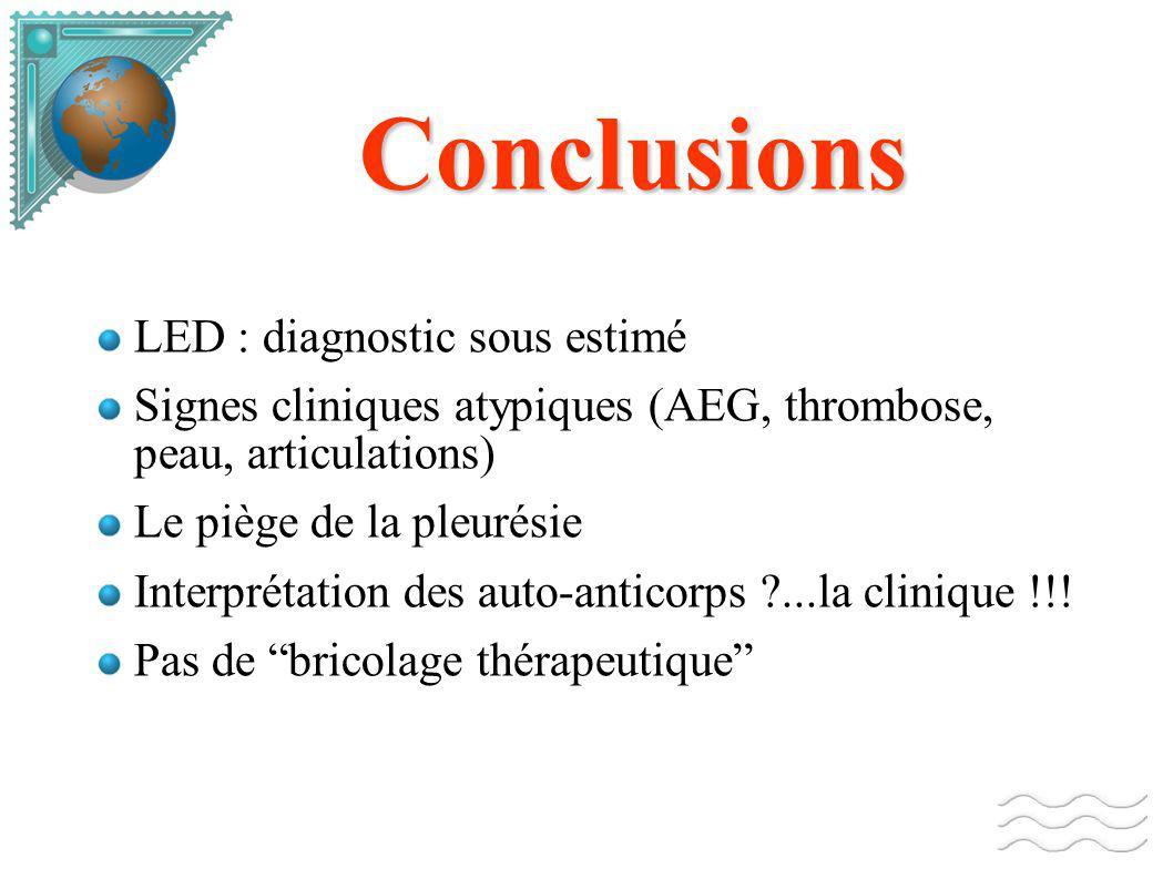 Conclusions LED : diagnostic sous estimé