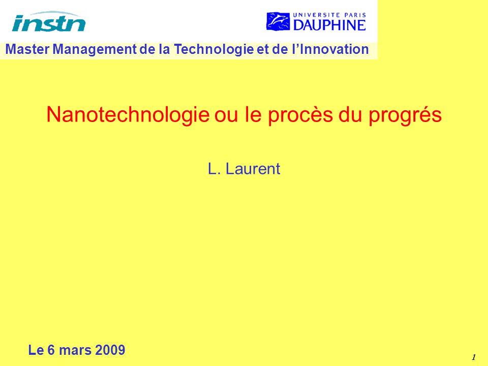 Nanotechnologie ou le procès du progrés