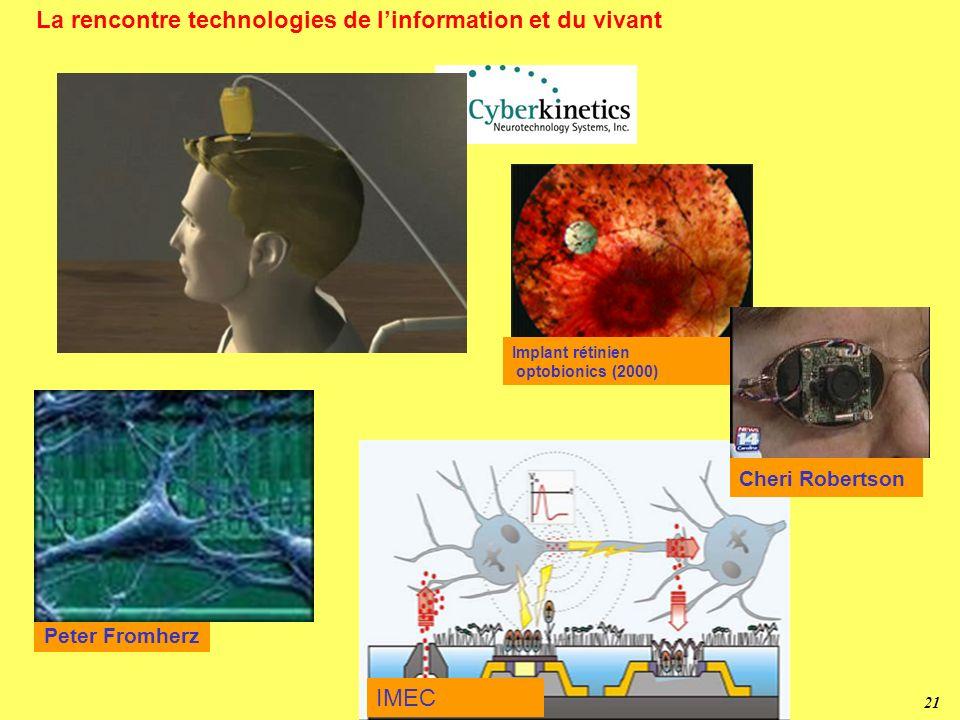 La rencontre technologies de l'information et du vivant