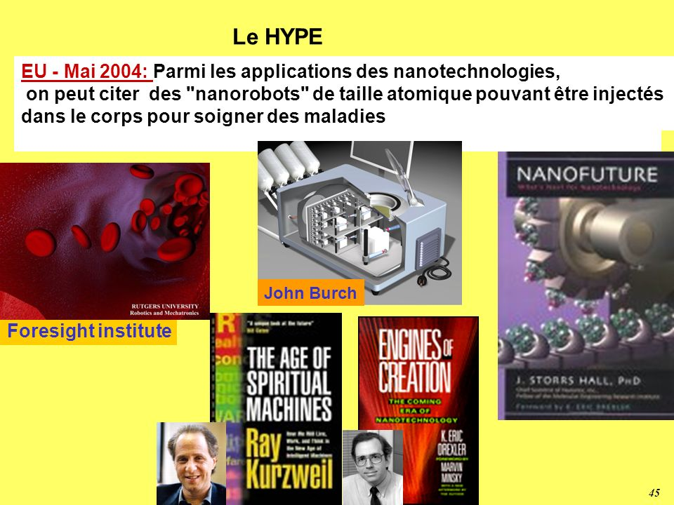 Le HYPE EU - Mai 2004: Parmi les applications des nanotechnologies,