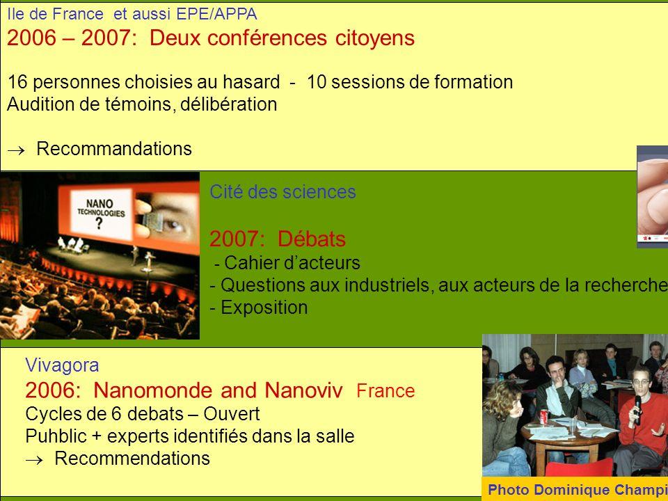 2006 – 2007: Deux conférences citoyens