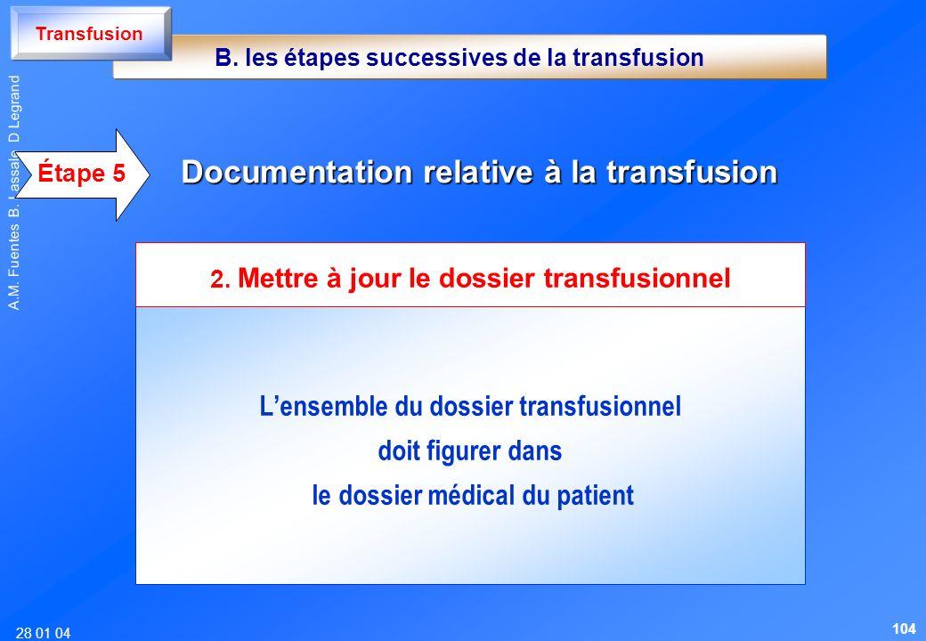 Documentation relative à la transfusion