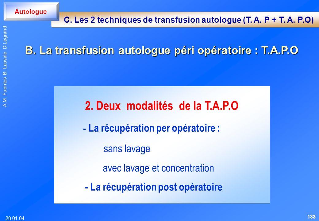 2. Deux modalités de la T.A.P.O
