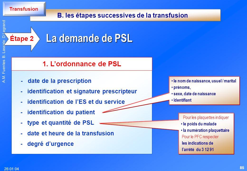 La demande de PSL 1. L'ordonnance de PSL Étape 2