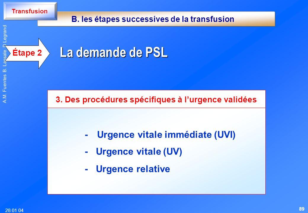 3. Des procédures spécifiques à l'urgence validées