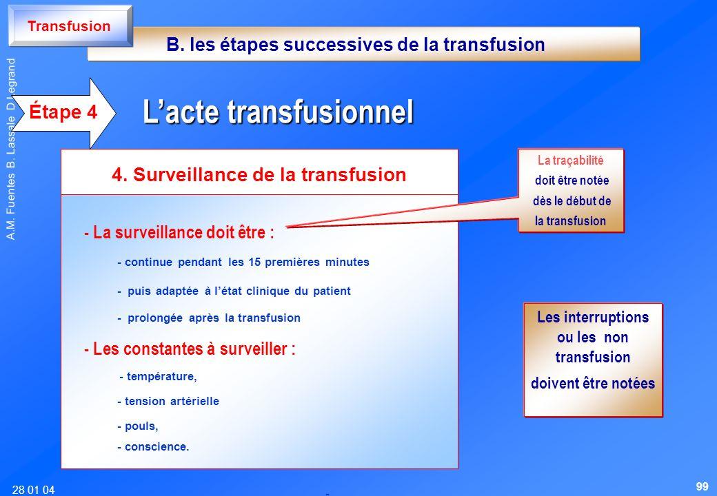 L'acte transfusionnel