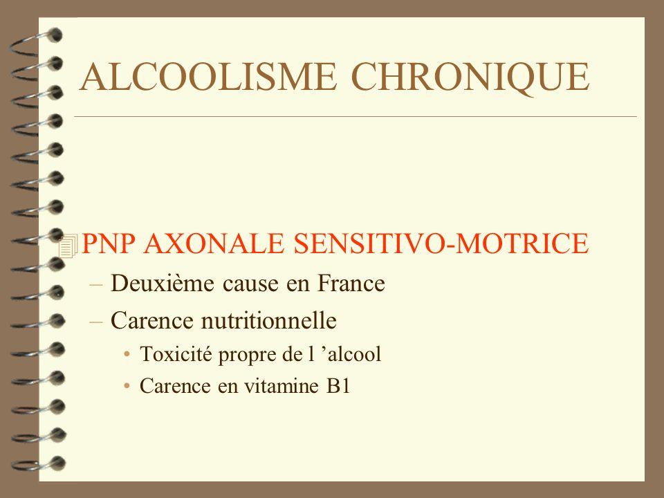 ALCOOLISME CHRONIQUE PNP AXONALE SENSITIVO-MOTRICE