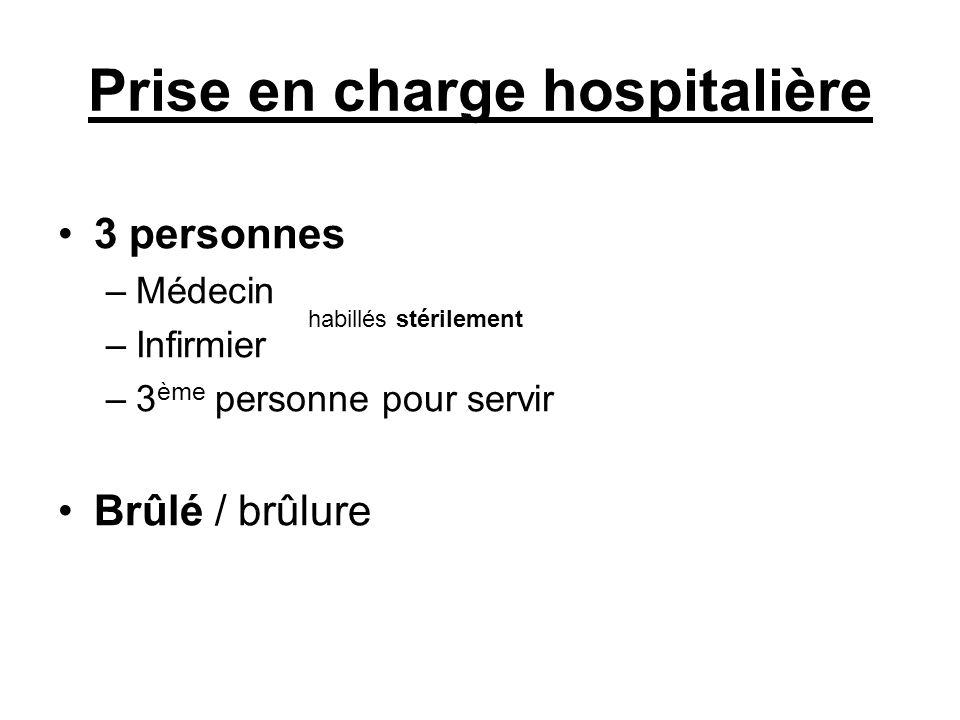 Prise en charge hospitalière