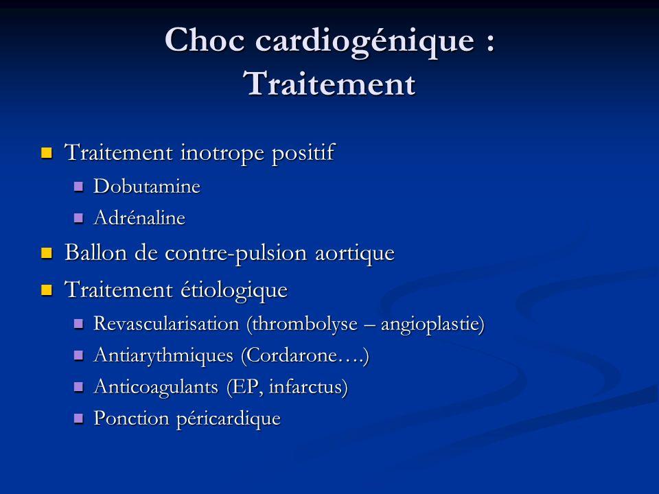 Choc cardiogénique : Traitement