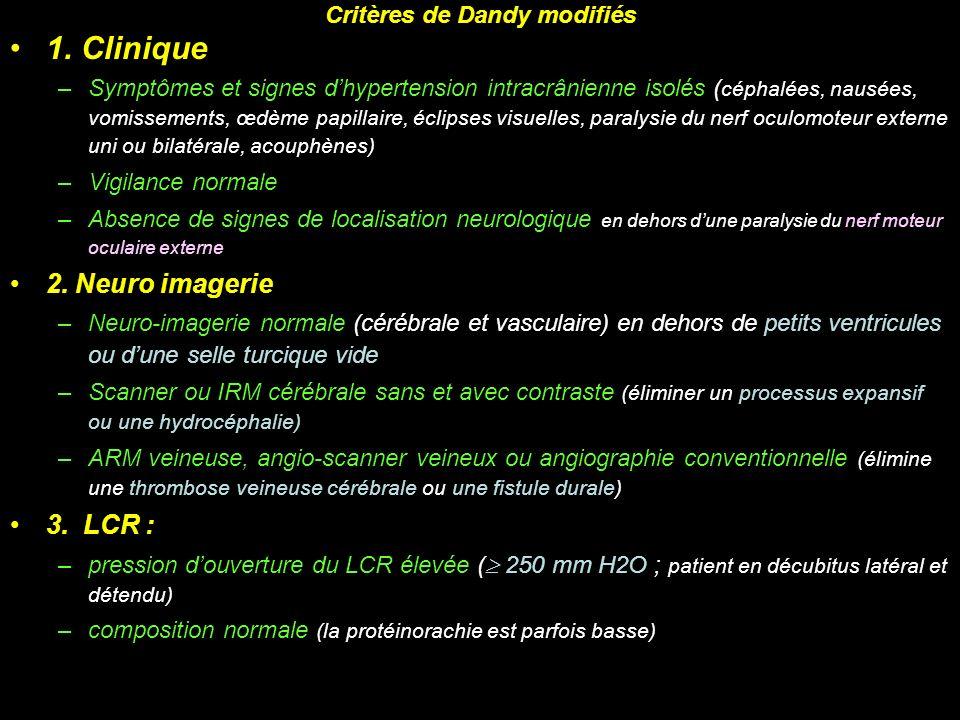 Critères de Dandy modifiés
