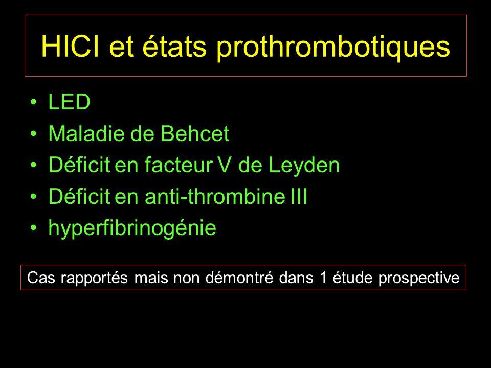 HICI et états prothrombotiques