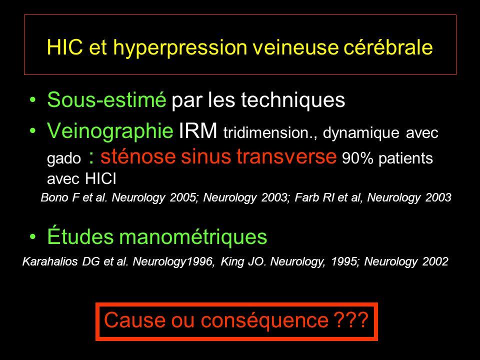HIC et hyperpression veineuse cérébrale