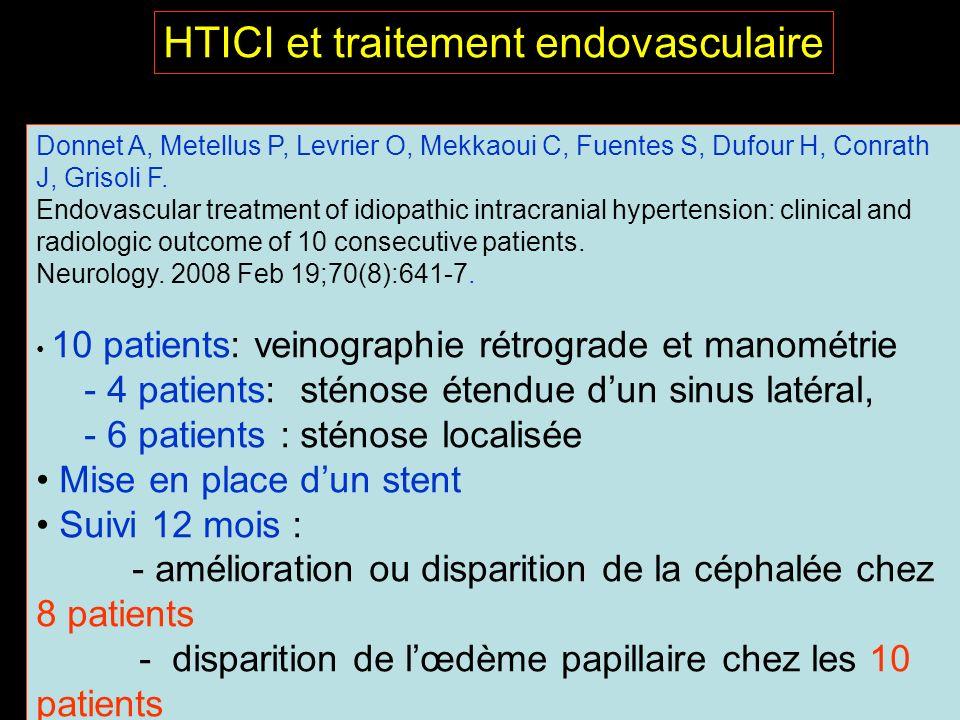 HTICI et traitement endovasculaire