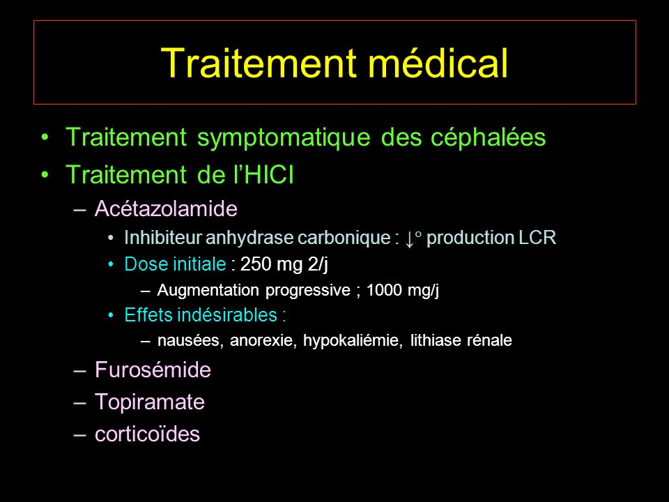 Traitement médical Traitement symptomatique des céphalées
