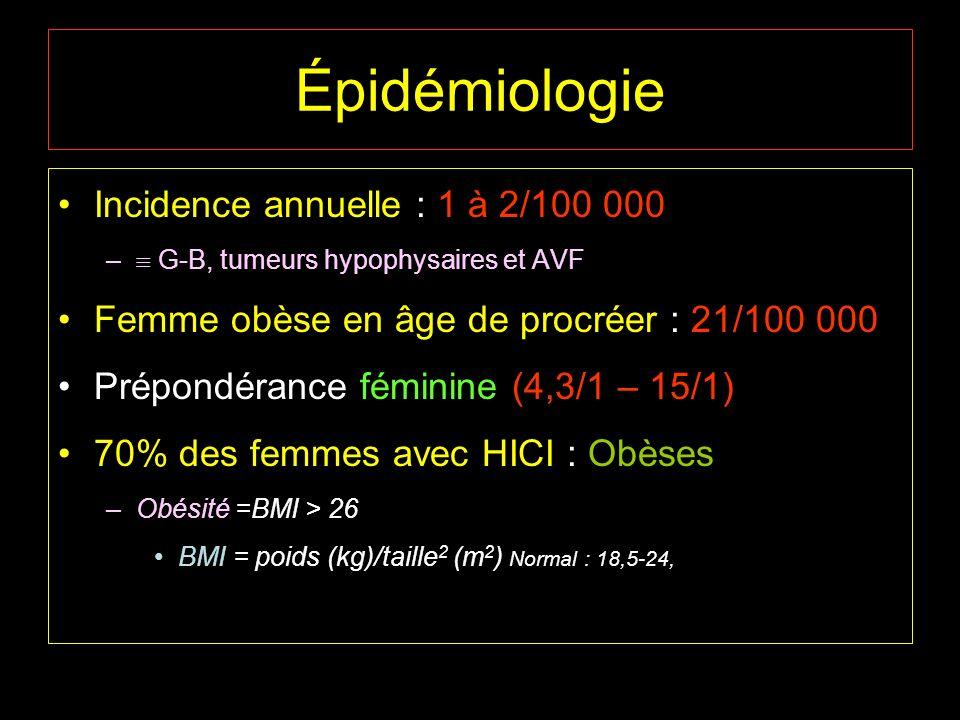 Épidémiologie Incidence annuelle : 1 à 2/100 000