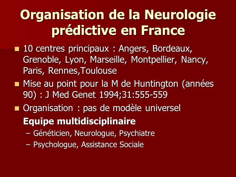 Organisation de la Neurologie prédictive en France