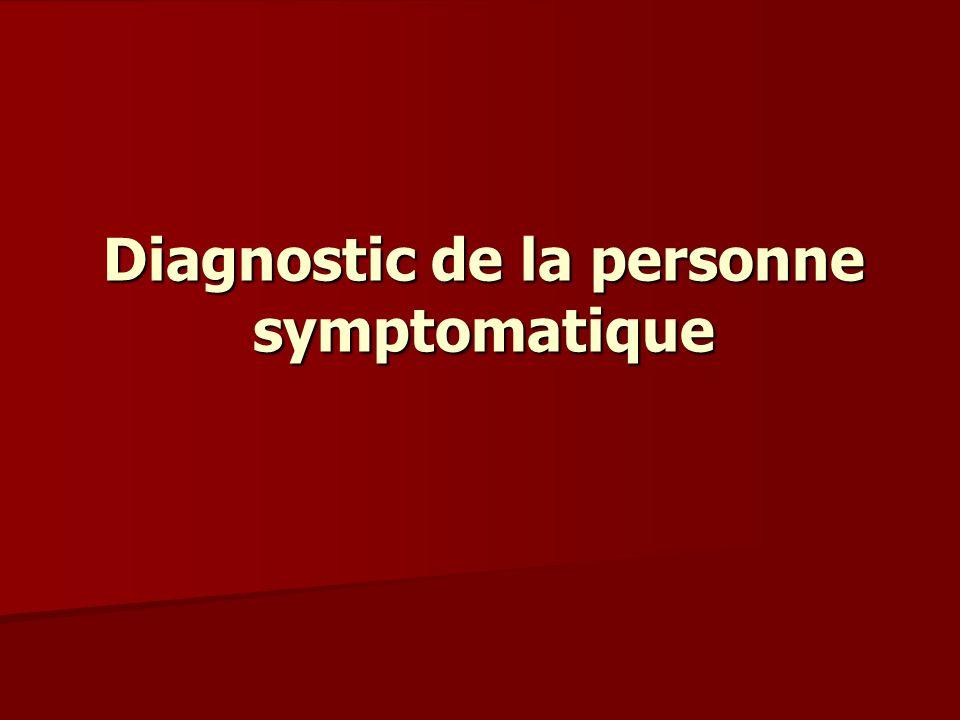 Diagnostic de la personne symptomatique