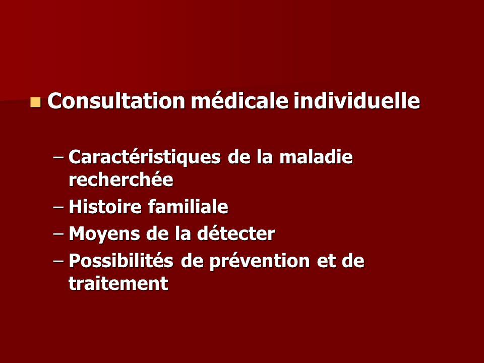 Consultation médicale individuelle