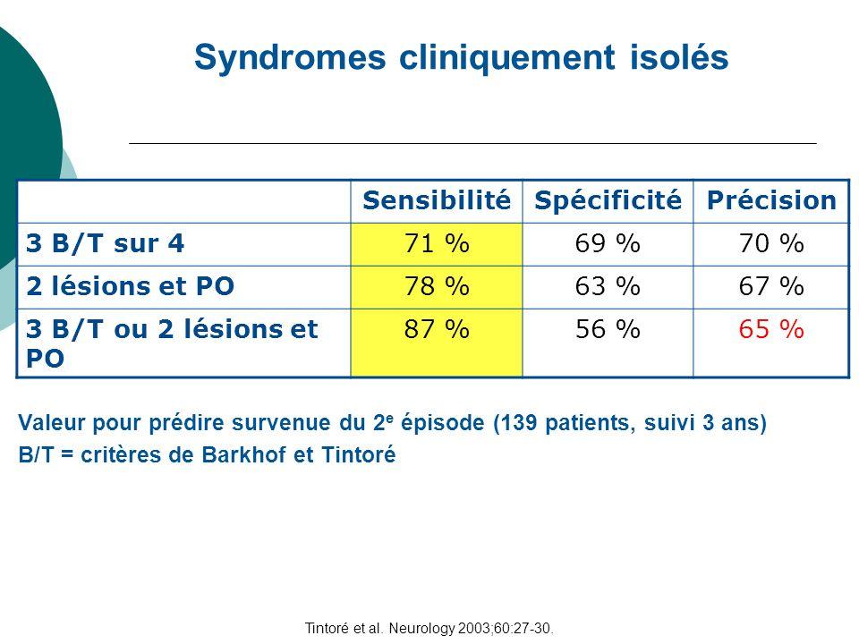 Tintoré et al. Neurology 2003;60:27-30.