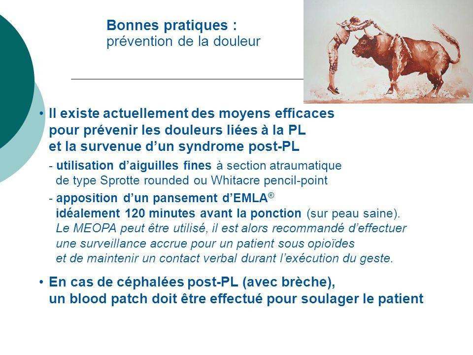Bonnes pratiques : prévention de la douleur