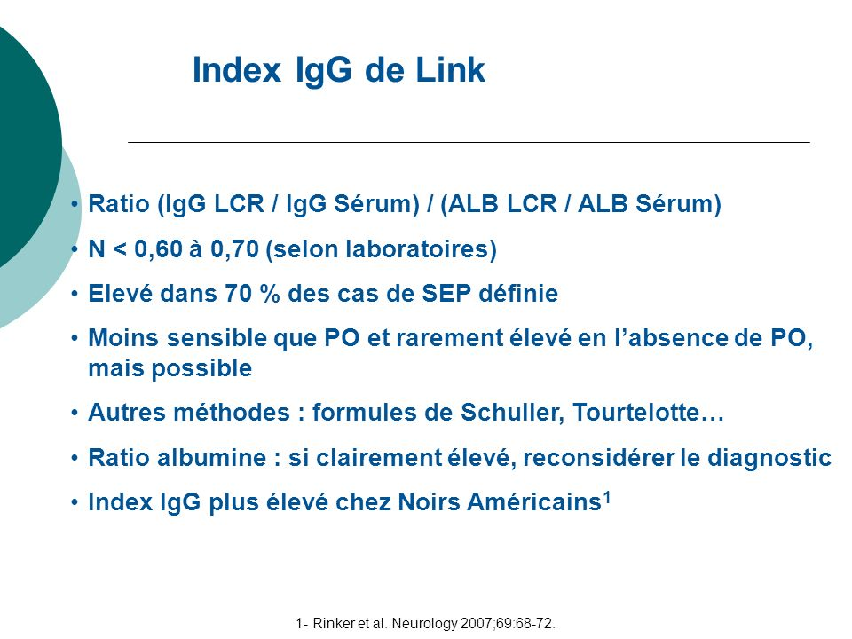 1- Rinker et al. Neurology 2007;69:68-72.