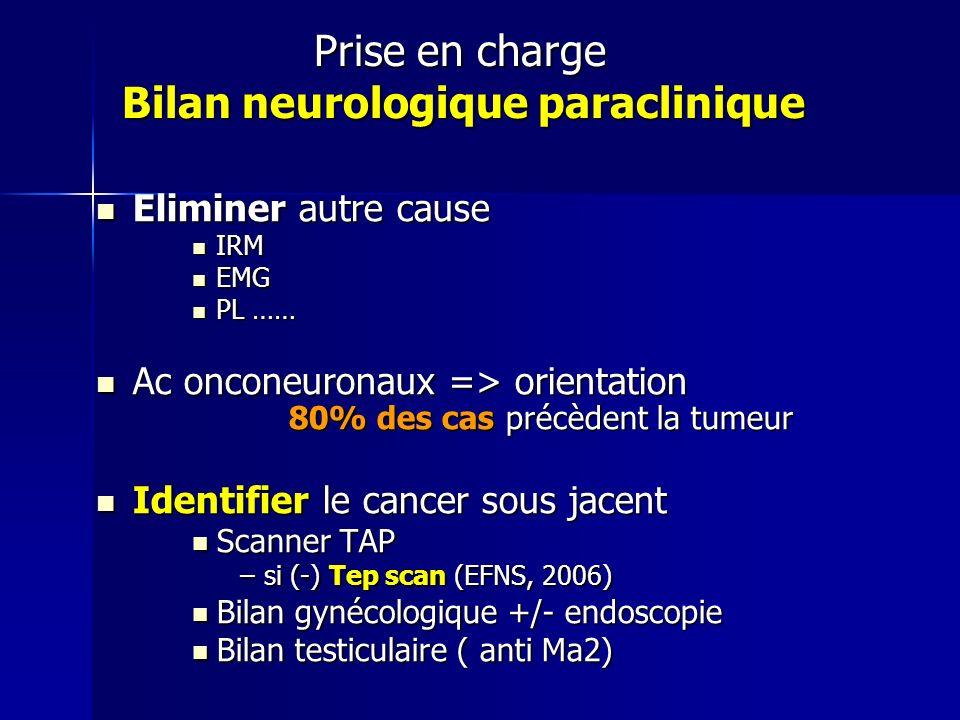 Prise en charge Bilan neurologique paraclinique