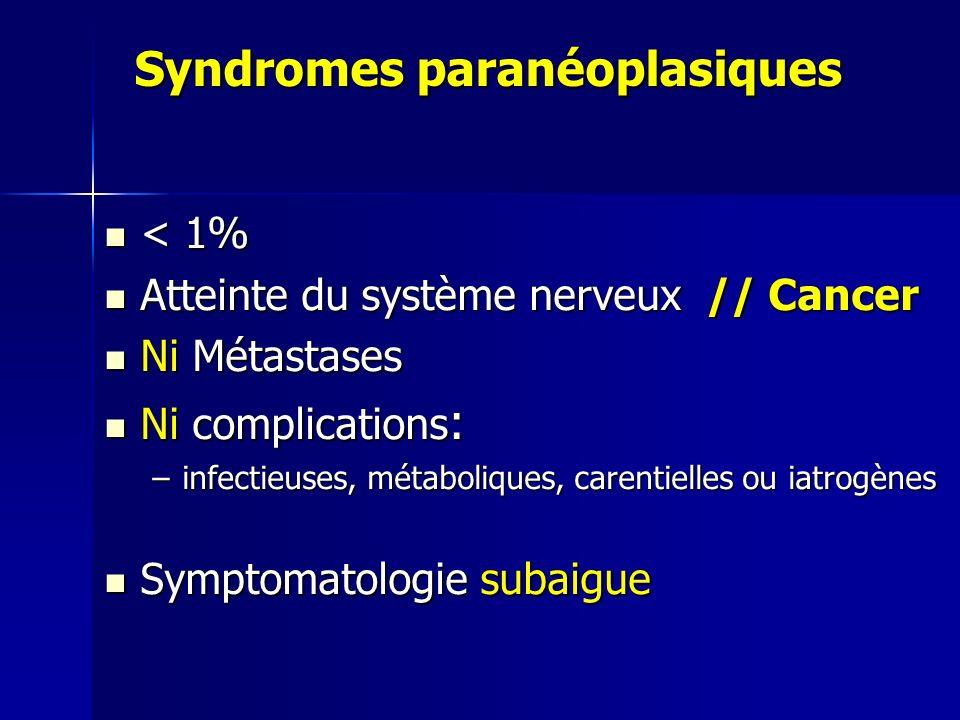 Syndromes paranéoplasiques