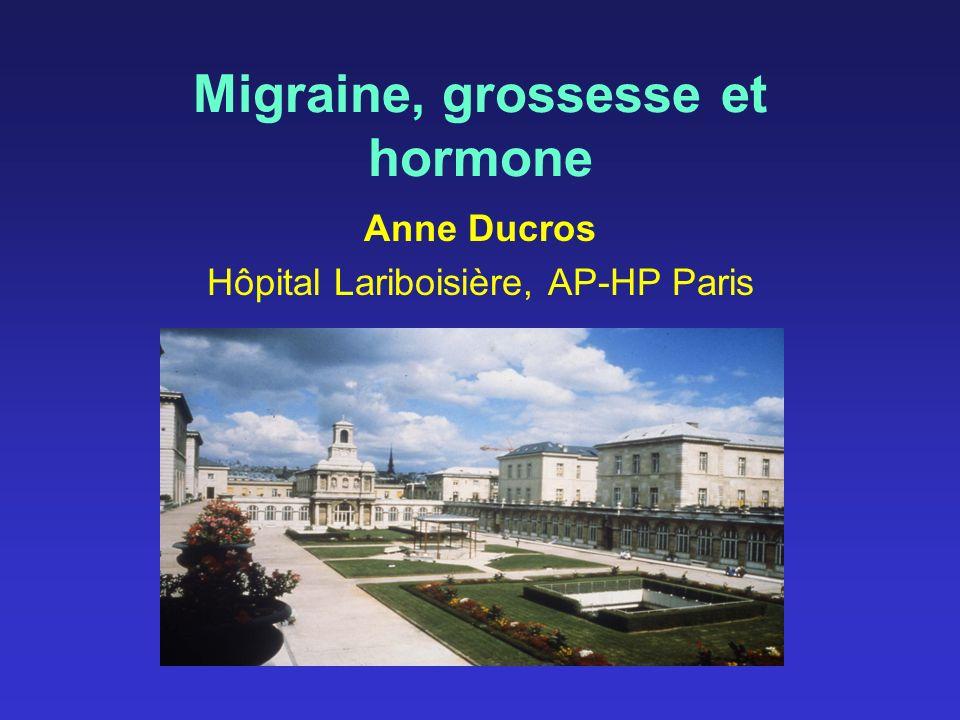 Migraine, grossesse et hormone