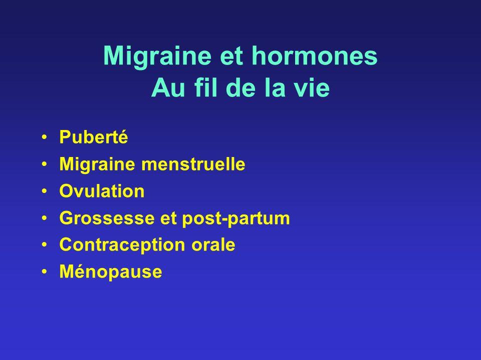 Migraine et hormones Au fil de la vie