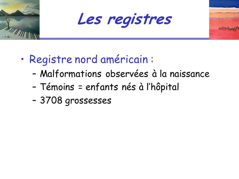 Les registres Registre nord américain :