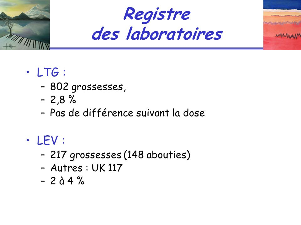 Registre des laboratoires