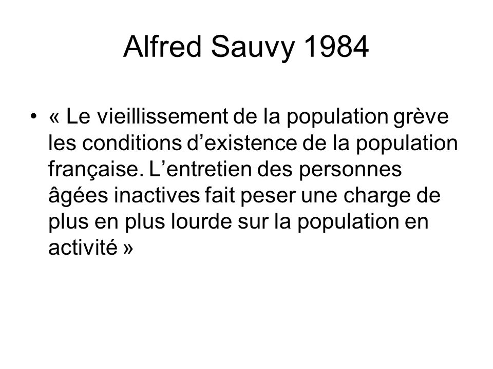 Alfred Sauvy 1984