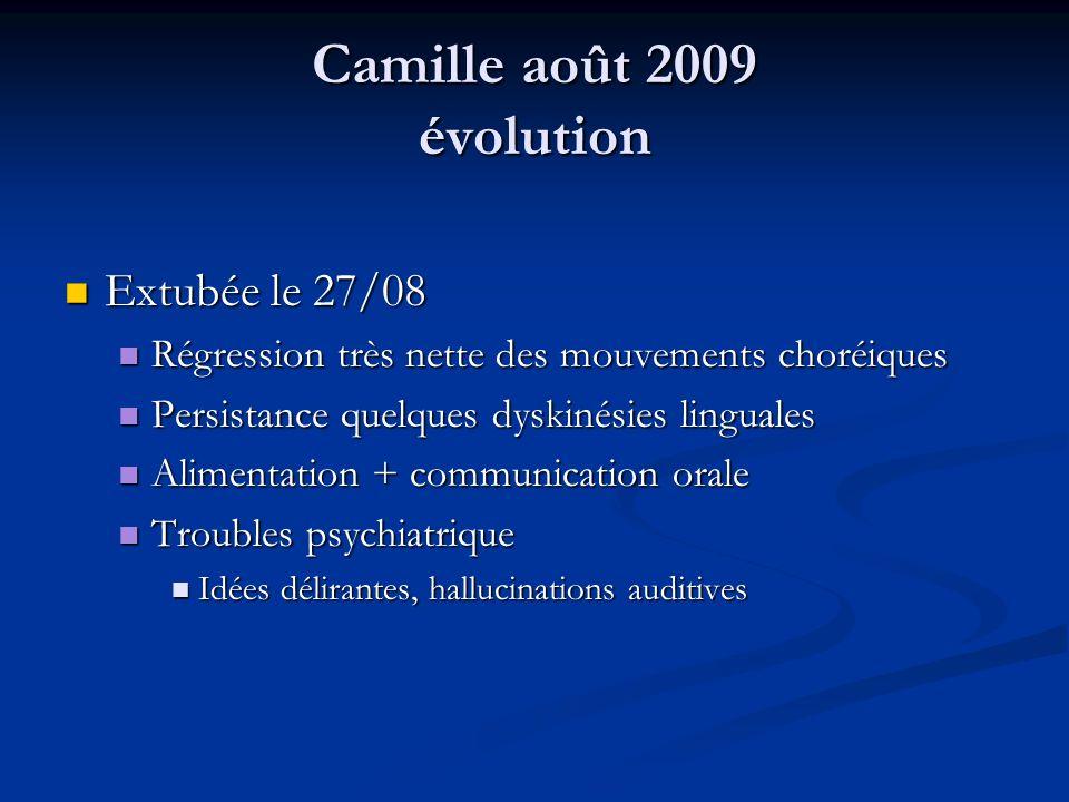 Camille août 2009 évolution