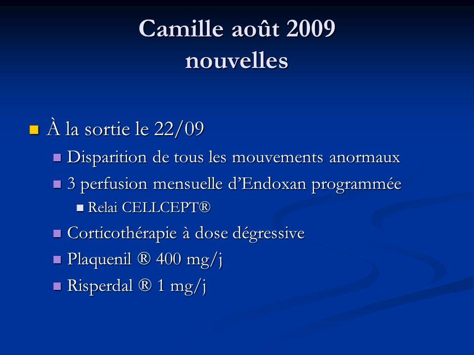 Camille août 2009 nouvelles