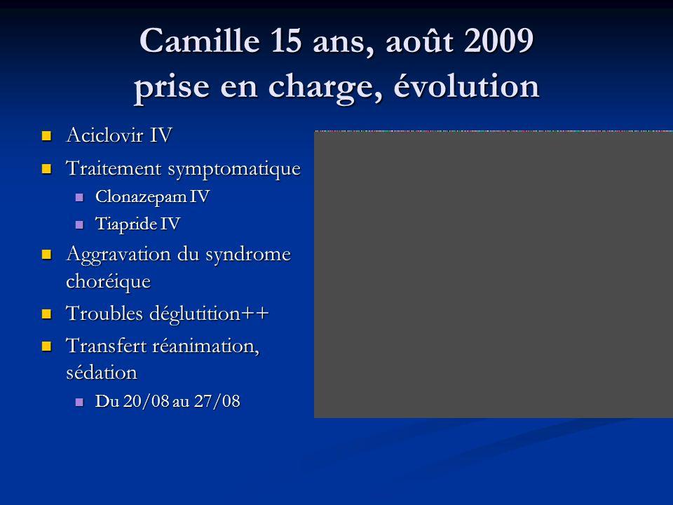 Camille 15 ans, août 2009 prise en charge, évolution