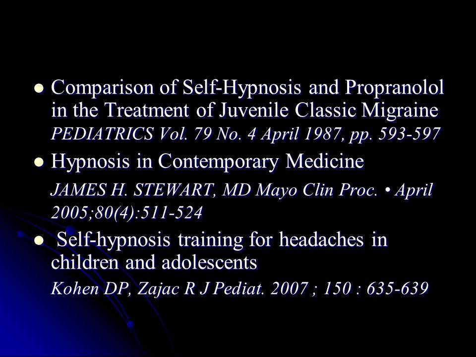Hypnosis in Contemporary Medicine