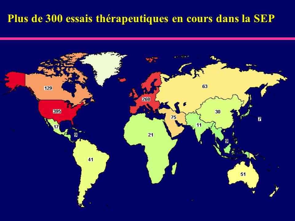 Plus de 300 essais thérapeutiques en cours dans la SEP