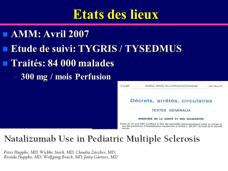 Etats des lieux AMM: Avril 2007 Etude de suivi: TYGRIS / TYSEDMUS