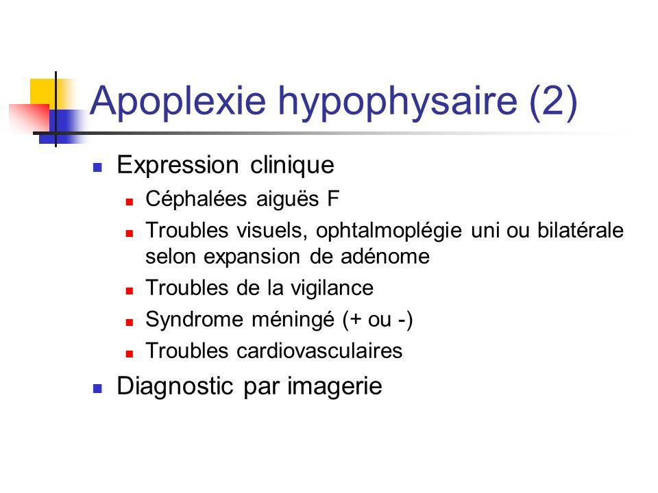 Apoplexie hypophysaire (2)