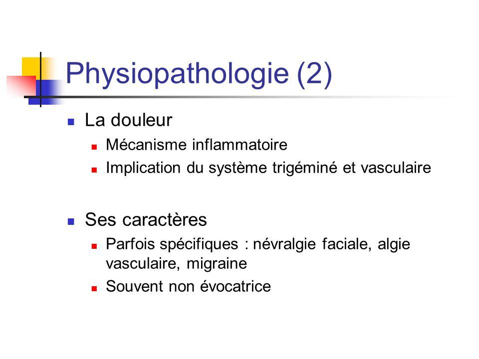 Physiopathologie (2) La douleur Ses caractères Mécanisme inflammatoire
