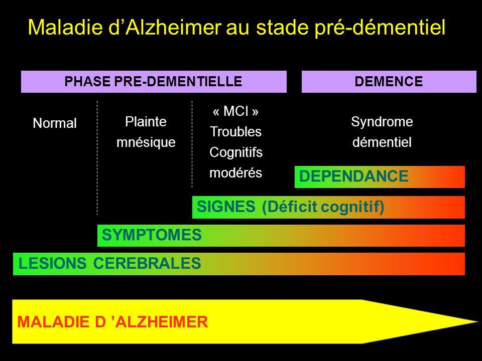 Maladie d'Alzheimer au stade pré-démentiel
