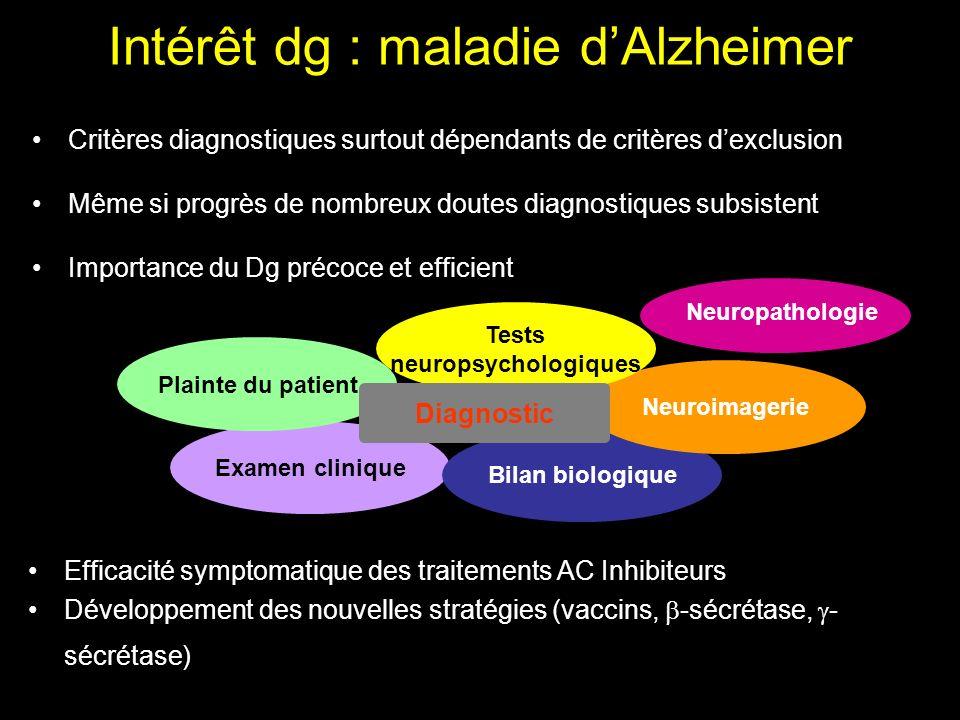 Généralités sur la maladie d'Alzheimer