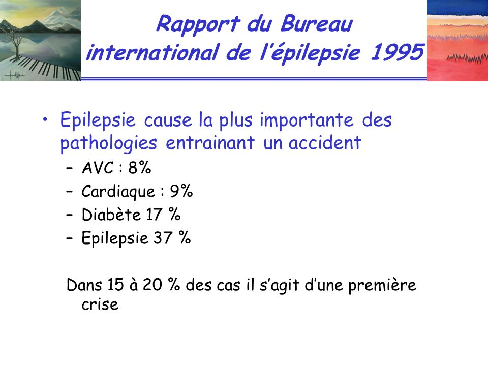 Rapport du Bureau international de l'épilepsie 1995