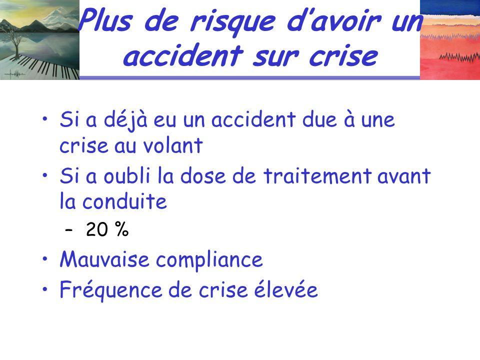 Plus de risque d'avoir un accident sur crise
