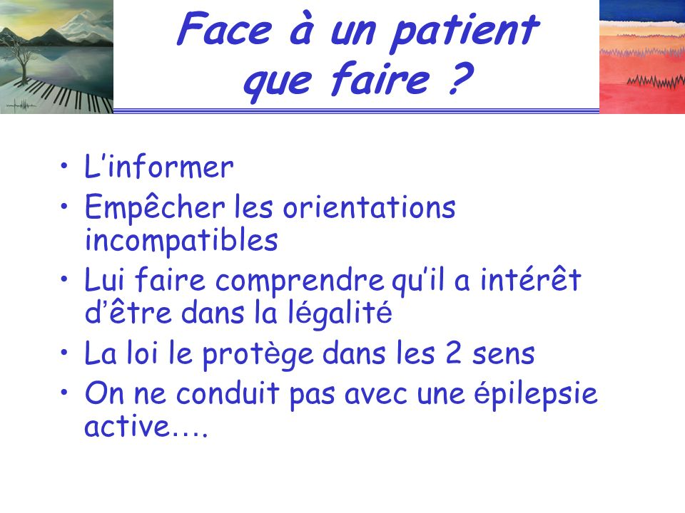 Face à un patient que faire