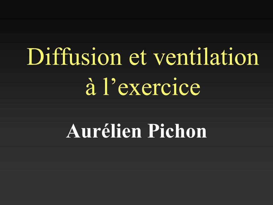 Diffusion et ventilation à l'exercice