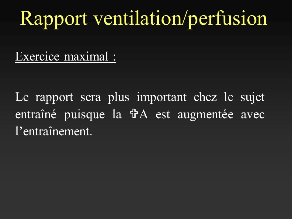 Rapport ventilation/perfusion