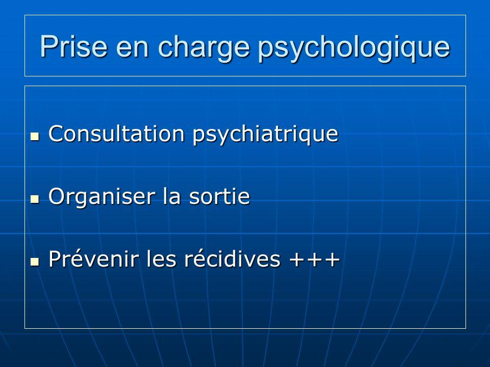 Prise en charge psychologique
